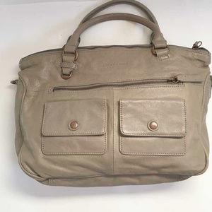 Liebeskind Berlin taupe leather satchel